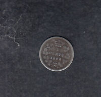 1872H CANADA SILVER 5 CENTS