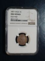 1857 FLYING EAGLE CENT NGC FINE 1C COIN AUCTION STARTS AT 99