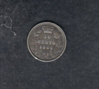1864 NEW BRUNSWICK SILVER 10 CENTS