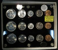 1953 P D S UNCIRCULATED SET  15 COINS  BU IN CAPITAL PLASTIC