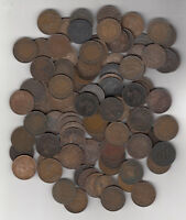 1859 1920 CANADA LARGE CENTS LOT OF 100