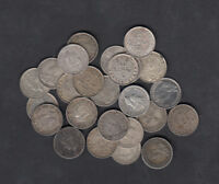 1903 47 CANADA NEWFOUNDLAND 5 CENTS SILVER COIN LOT OF 25
