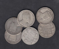 1902 10 CANADA 50 CENTS SILVER COIN LOT OF 6