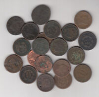 1800'S USA LARGE CENTS LOT OF 20