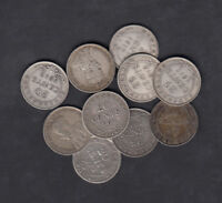 1904 19 CANADA NEWFOUNDLAND 20 & 25 CENTS COIN LOT OF 10