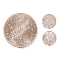 NEW ZEALAND   1949 CROWN & 1942 43 THREEPENCE