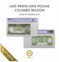 1961 AUSTRALIA 1 POUND NOTE COOMBS/WILSON LAST PREFIX CHOICE