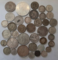 SILVER LOT OF 38 COINS