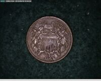 1865 2C TWO CENT  CIVIL WAR COIN 77-125