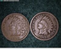 1908 & 1909 INDIAN HEAD CENTS   60-112