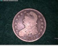 1824 50C CAPPED BUST HALF DOLLAR  34-170