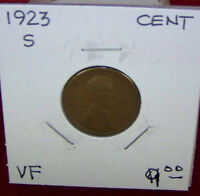 1923 S LINCOLN WHEAT CENT -VF