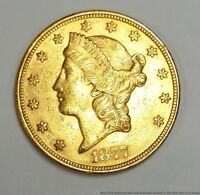 1877 S US LIBERTY HEAD DOUBLE EAGLE GOLD $20 TWENTY DOLLAR C