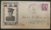 1932 PERSHING USA FIRST DAY COVER FDC TO CHICAGO IL USA ARMISTICE DAY