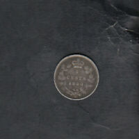 1880 H CANADA SILVER 5 CENTS