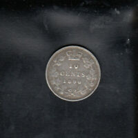 1890 H CANADA SILVER 10 CENTS