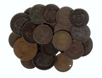 1800'S CANADIAN TOKENS LOT OF 100