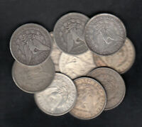 1879 1921 USA MORGAN SILVER DOLLARS LOT OF 10
