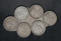 1911 36 CANADA 50 CENTS SILVER COINS LOT OF 10