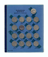 1922 60 CANADA 5 CENTS COIN COLLECTION OF 42 IN ALBUM
