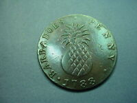 BARBADOS 1788 PENNY PINEAPPLE SLAVE TYPE 64300