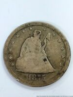 1875 S 20 CENTS TWENTY SILVER 1/5 DOLLAR COIN SEATED LIBERTY