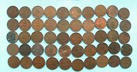 LOT OF 50 GEORGE V CANADIAN ONE CENT OR PENNIES