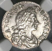 1679 NGC MS 61 SILVER 2 PENCE CHARLES II LEGEND ERROR BRITAIN POP 1/0  17062903C