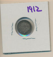 CANADA SILVER - 5 CENT 1912  EXTRA FINE  TONED - REDUCED