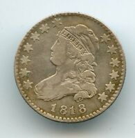 1818 CAPPED BUST QUARTER FINE LOOK