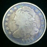1835 CAPPED BUST DIME    GOOD CONDITION     TONING     SERIES