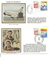 USA SPACE COVER. SPACE SHUTTLE COLUMBIA LIFT OFF AND LANDING NOV 12 14 1981 II