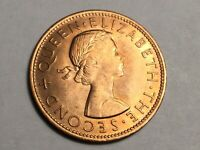 NEW ZEALAND 1965 1 PENNY COIN UNCIRCULATED