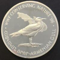 100 DRAMS PROOF ARMENIA 1998 'WWF CONSERVING NATURE'  SILVER