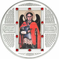 FIJI 2012 5$ ARCHANGEL MICHAEL ORTHODOX ICONS PROOF LIKE SIL