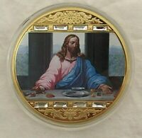 AMERICAN MINT THE LAST SUPPER 24K GOLD-LAYERED MEDALLION 2 3/4