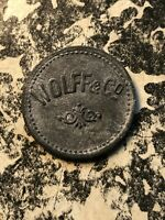 U/D WALSRODE 5 PF. GERMANY PRIVATE NOTGELD TOKEN LOTN340A WOLFF & CO.