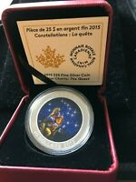 2015  STAR CHARTS ; THE QUEST  PROOF 1 OZ SILVER $25 COIN