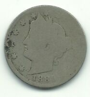 A VINTAGE 1889 LIBERTY HEAD V NICKEL COIN-OLD US COIN-MAY408
