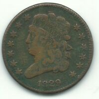 A VINTAGE HIGHER GRADE DETAILS 1829 CLASSIC HEAD HALF CENT COIN-MAY616