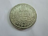 PERU ALMOST UNCIRCULATED 1833 MM 8 REALES 26.8 GRAMS OF 903
