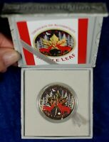 2017 $5 CANADA 1 OZ. SILVER MAPLE LEAF COIN   COLORIZED RED