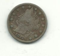 A FINE CONDITION 1912 D LIBERTY HEAD NICKEL COIN-V NICKEL-JAN274