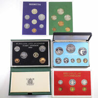 5X WORLD PROOF COIN SETS GUERNSEY ST HELENA BERMUDA SEYCHELL