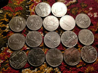 CANADA COLLECTION OF 17 DIFFERENT ONE DOLLAR COINS.