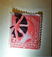 GEORGE WASHINGTON RED 2 CENT STAMP   GOOD CONDITION ..