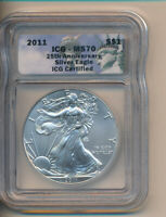 SILVER EAGLE 2011 ICG-MS70 - CERTIFIED