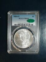 1884 O MORGAN SILVER DOLLAR PCGS MINT STATE 64 CAC NEAR GEM $1 COIN PRICED TO SELL FAST