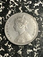 1885 INDIA 1 RUPEE LOTL5960 SILVER  NICE DETAIL  OLD CLEANING