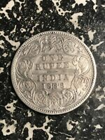 1886 INDIA 1 RUPEE LOTL5962 SILVER  CLEANED